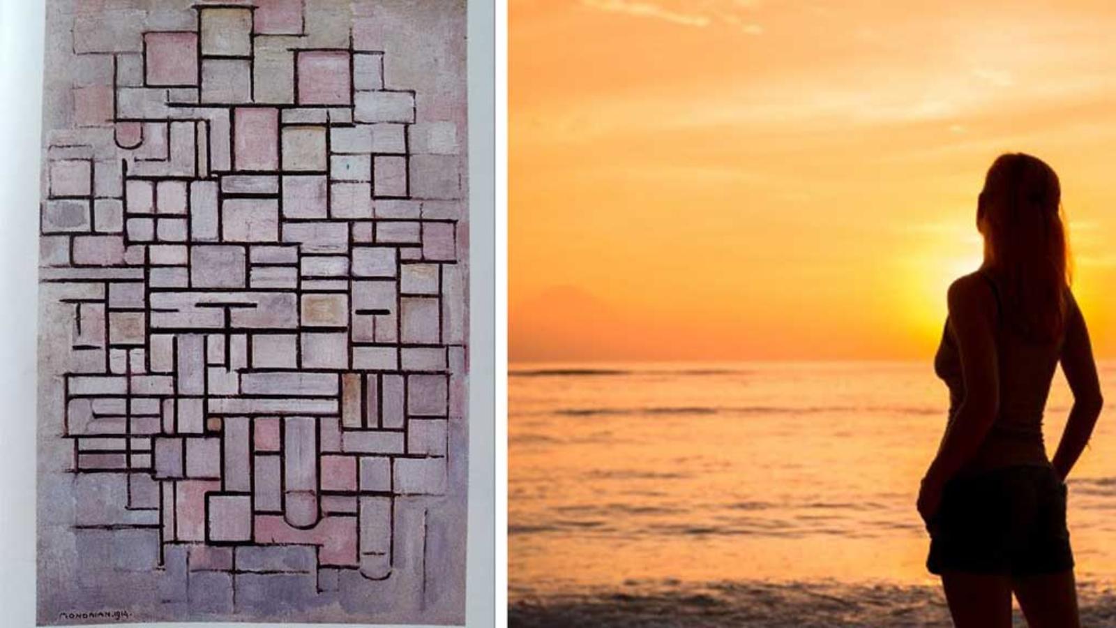 mondrian-tramonto